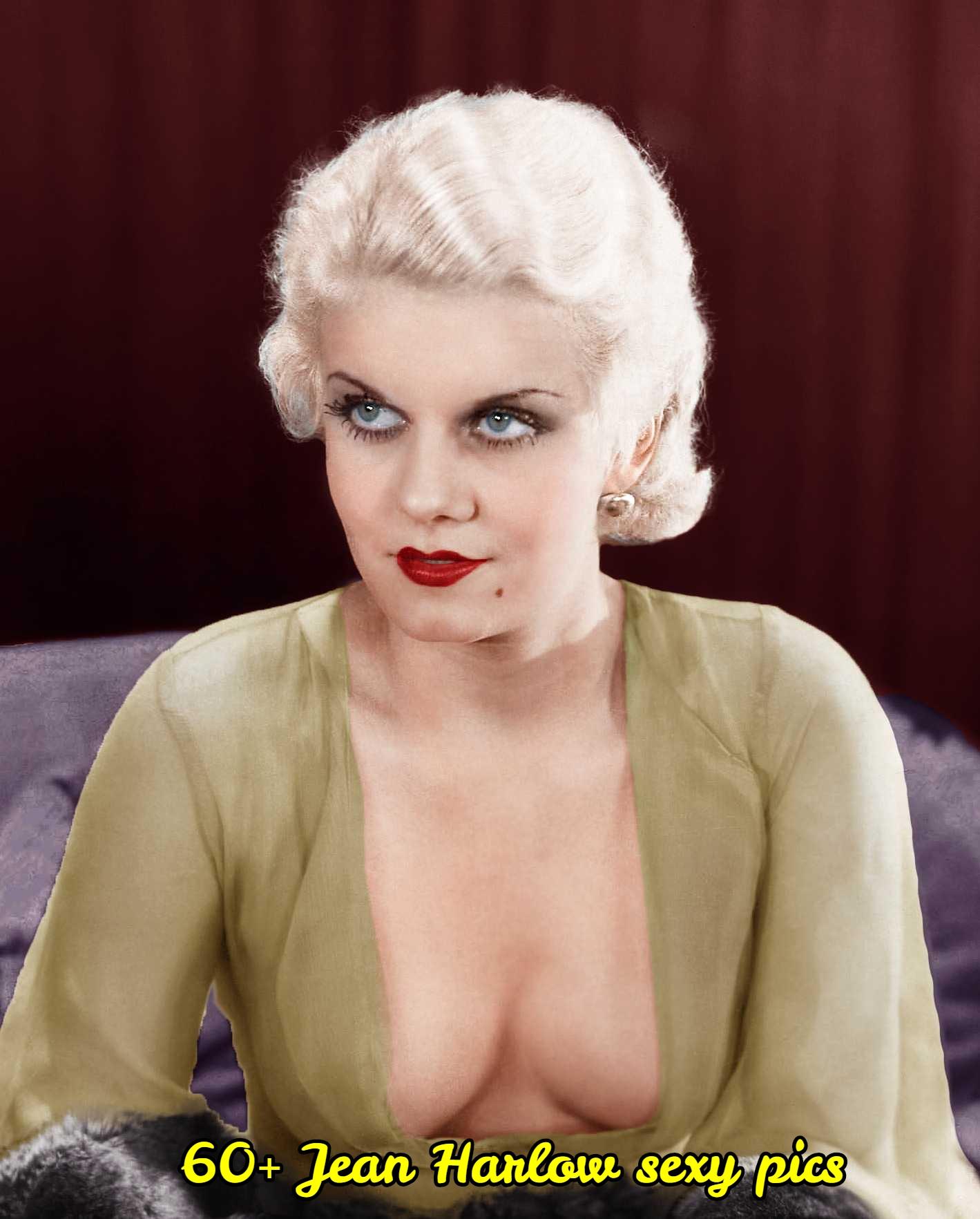 Jean Harlow cleavage pic