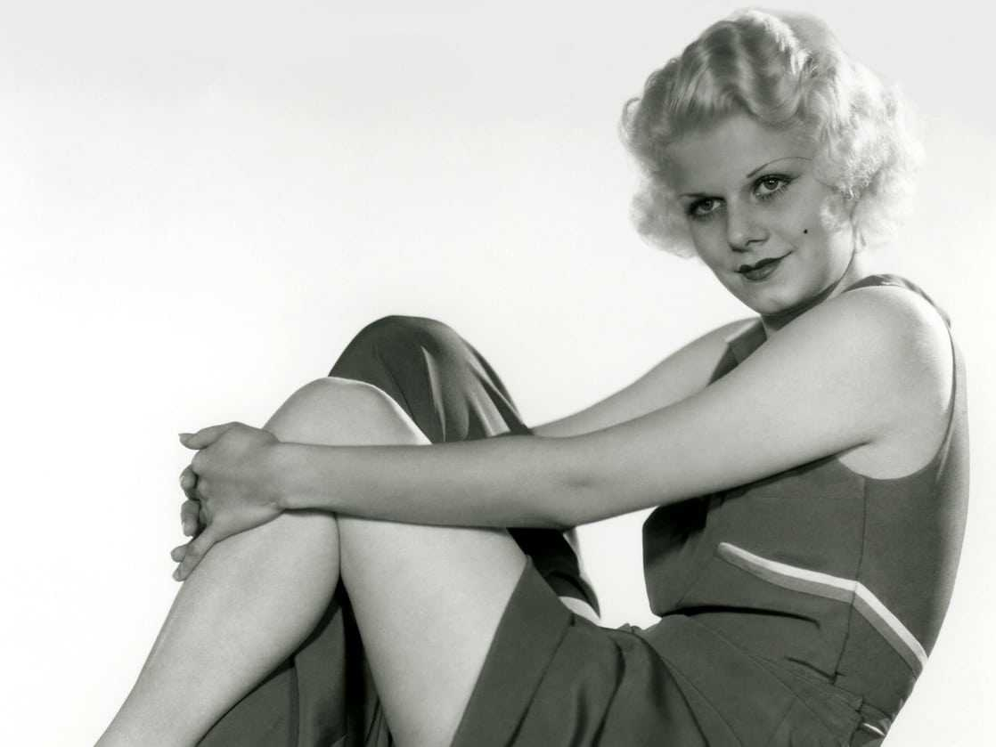 Jean Harlow sexy thighs pic