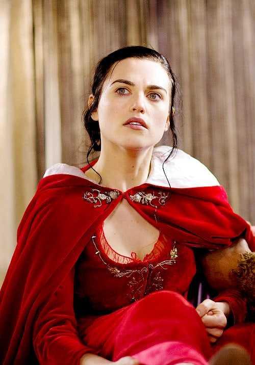 Katie McGrath red hot look