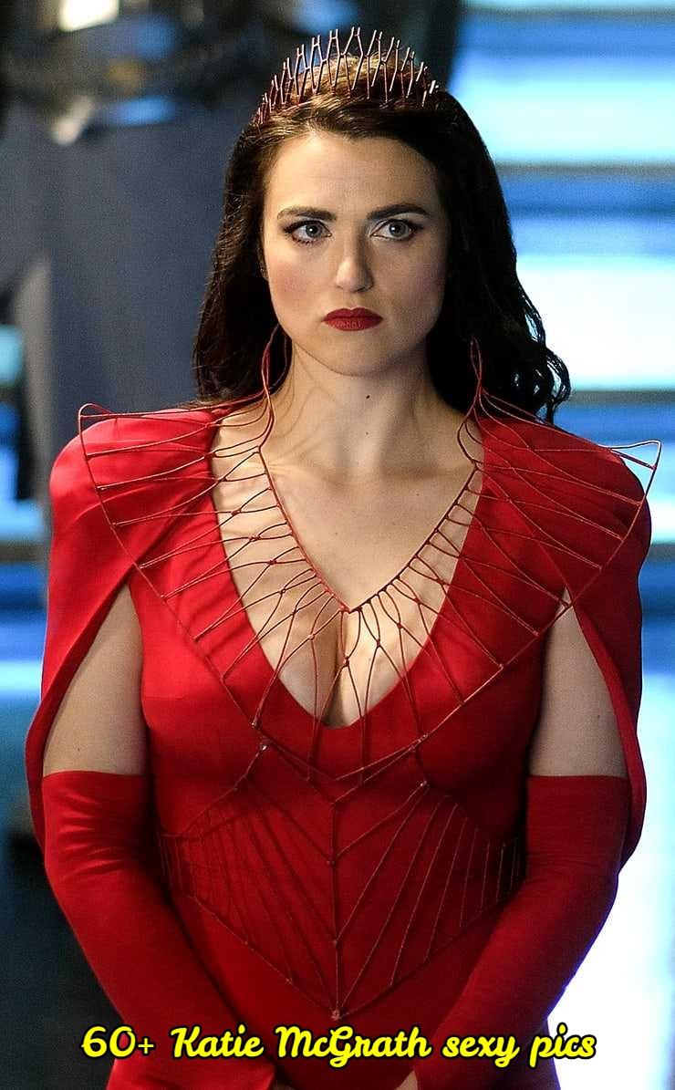Katie McGrath sexy cleavage
