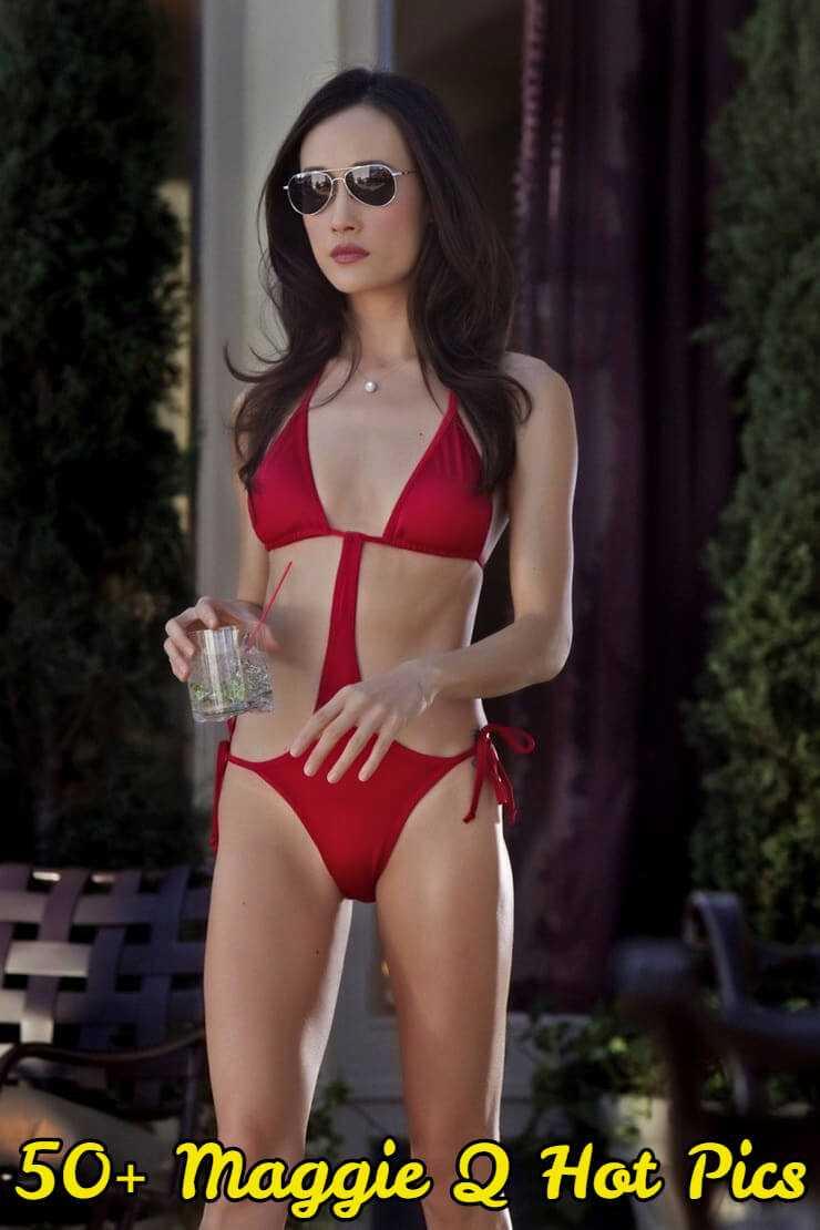 Maggie Q lingerie