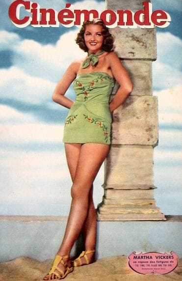 Martha Vickers hot legs pic