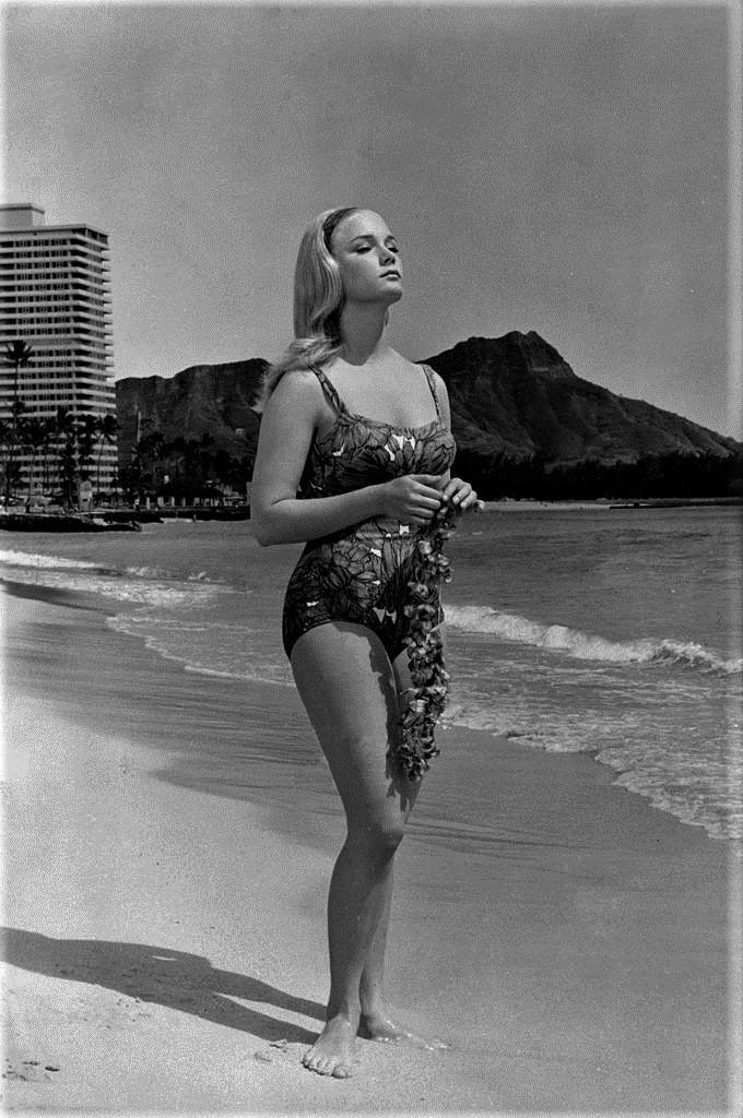Yvette Mimieux swim suit