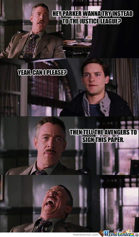 amusing Avengers Vs Justice league memes