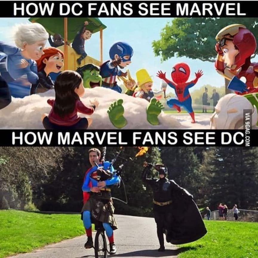 animated Avengers Vs Justice league memes
