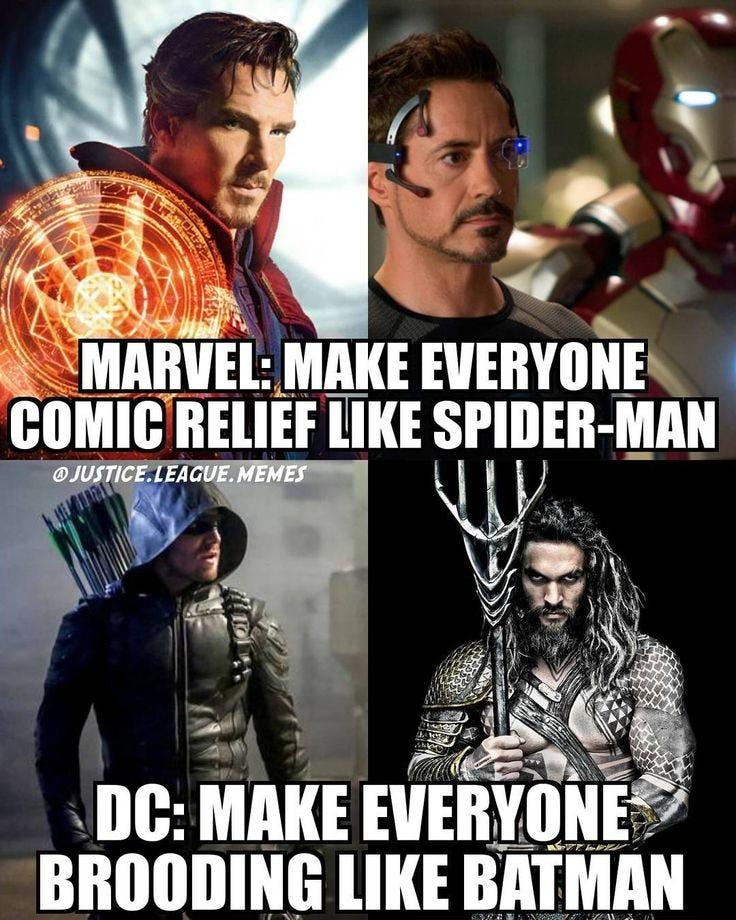 cheerful Avengers Vs Justice league memes