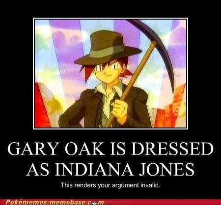 cheerful Gary Oak memes