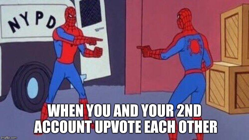 cheerful Spider-Man Pointing at Spider-Man memes