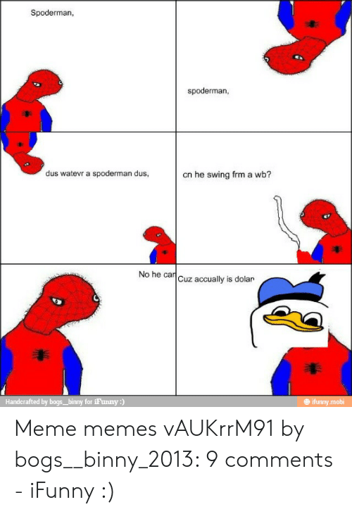 comical Spoderman memes