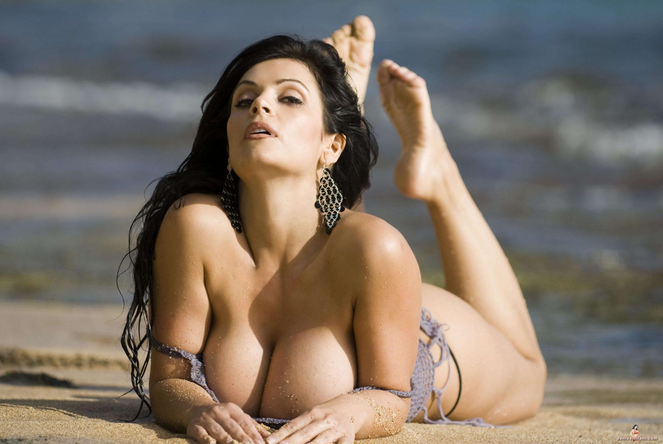 denise milani beach