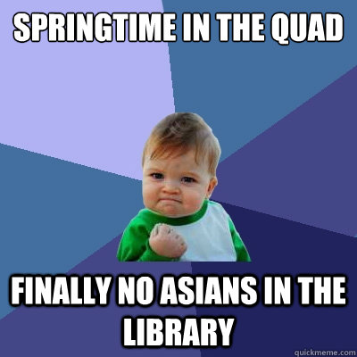 high-spirited Asians in the Library memes