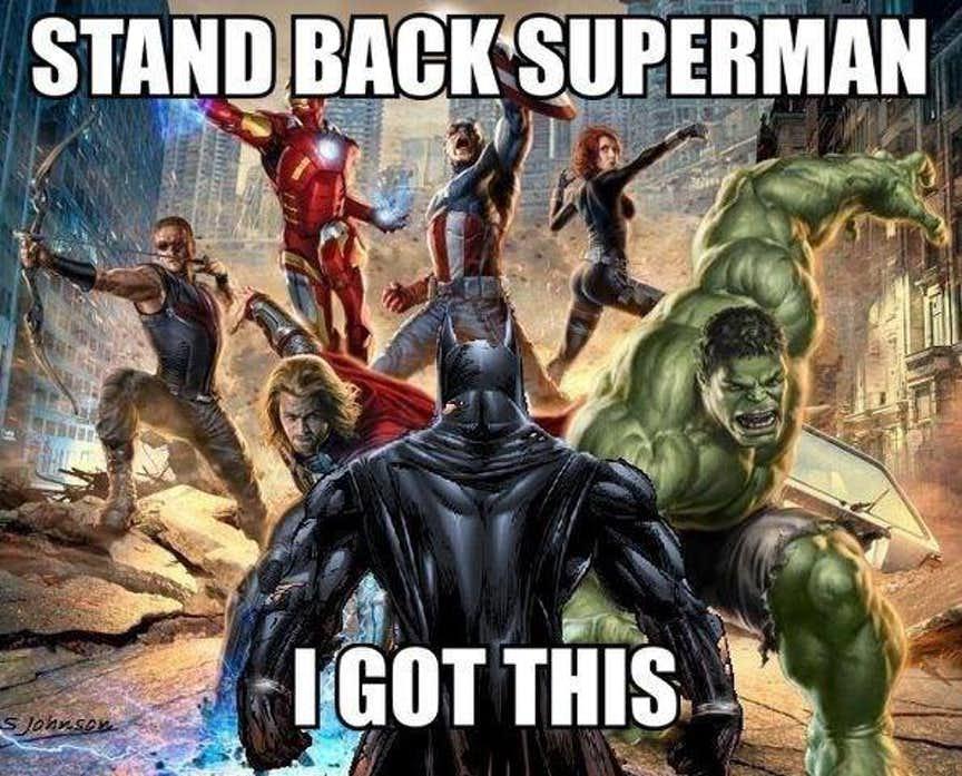 high-spirited Avengers Vs Justice league memes