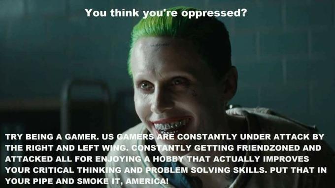 high-spirited Gamer Joker Gamers Rise Up memes