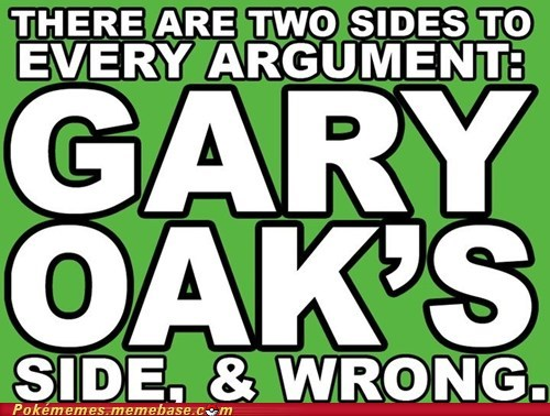 high-spirited Gary Oak memes