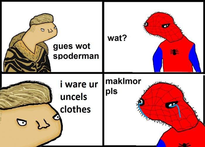 high-spirited Spoderman memes