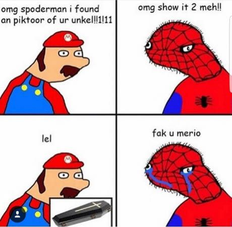 humorous Spoderman memes