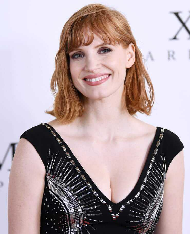 jessica chastain hot smile