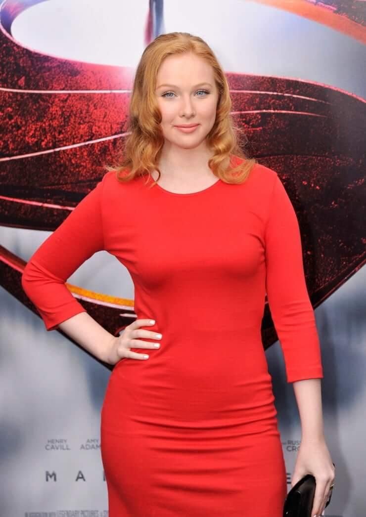 molly c. quinn red dress