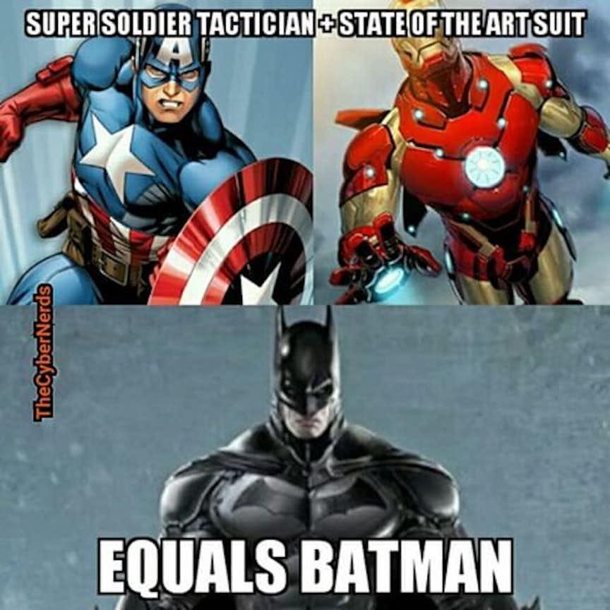 rib-tickling Avengers Vs Justice league memes