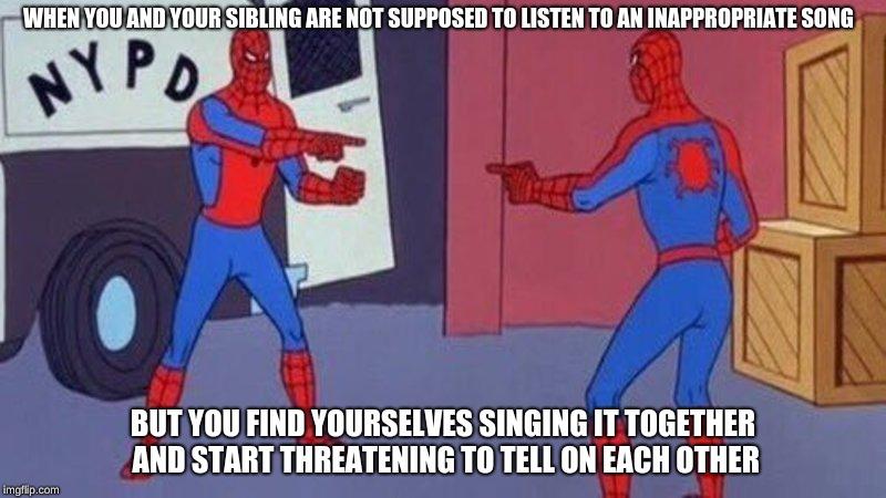 sparkling Spider-Man Pointing at Spider-Man memes