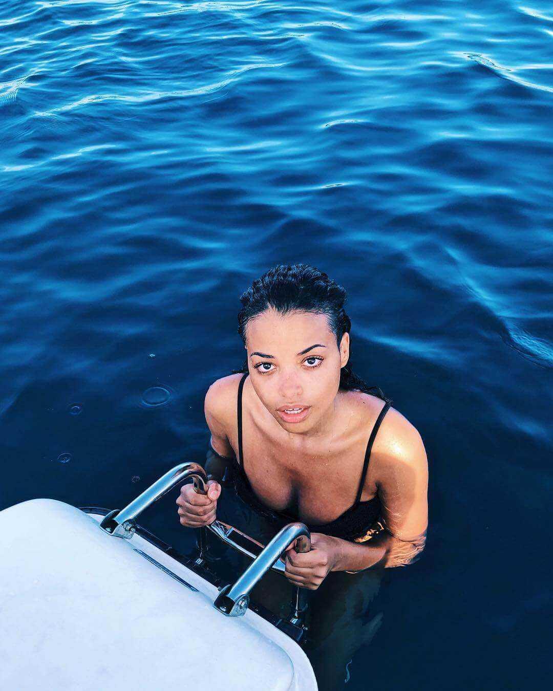 Ella Balinska swimsuit