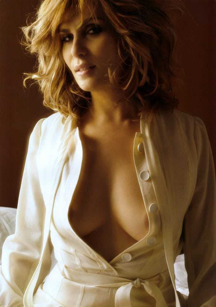 Emmanuelle Seigner sexy cleavage pic