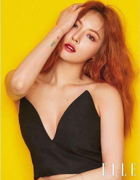 Hyuna hot cleavage