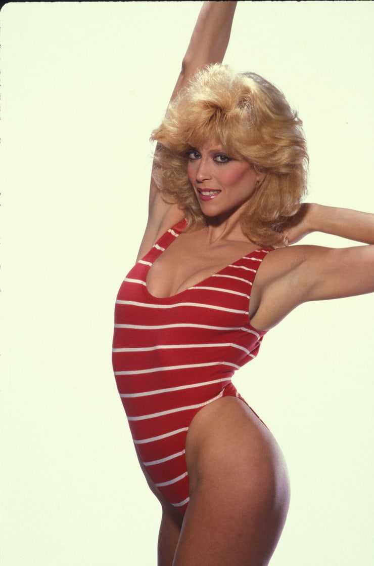 Judy Landers boobs cleavage