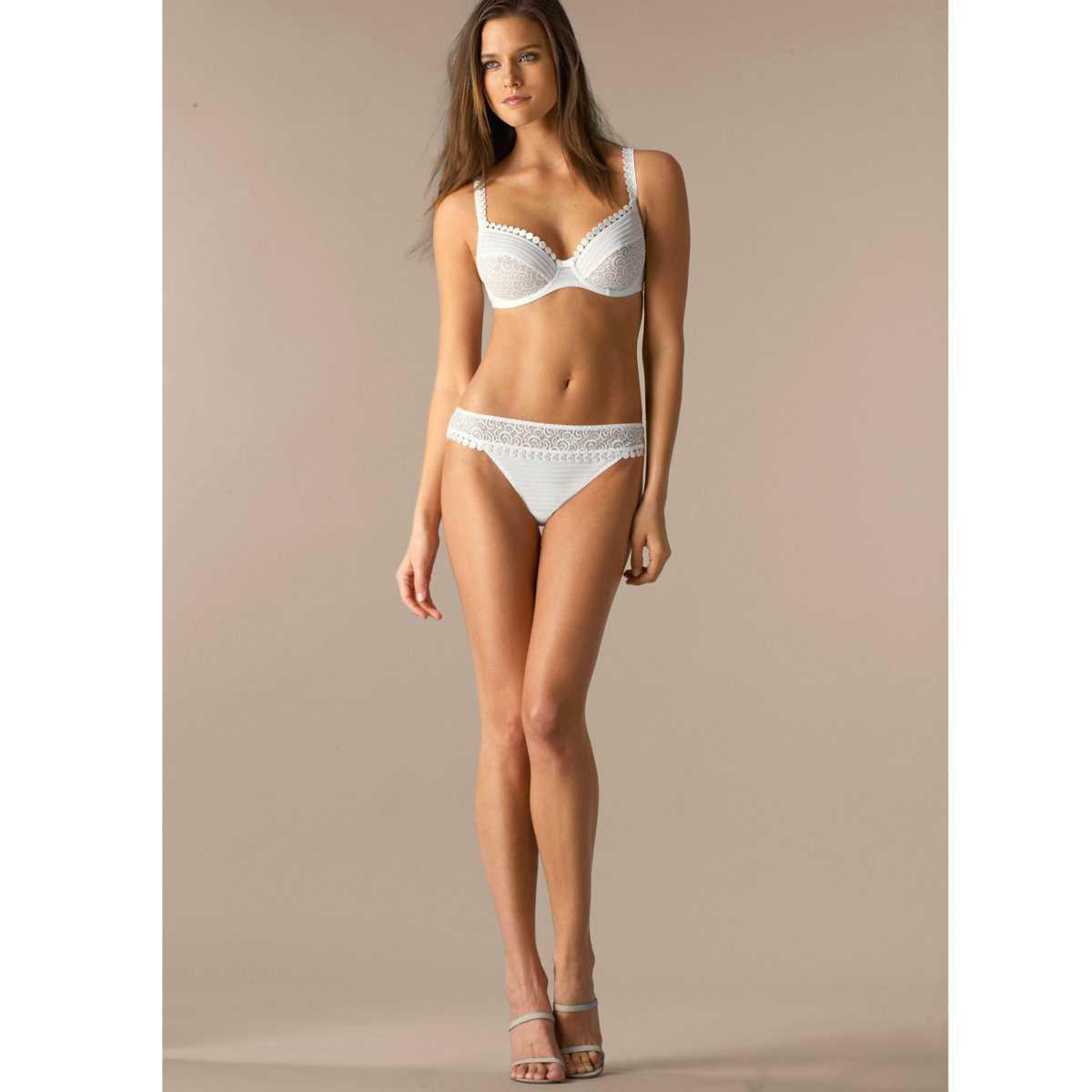 Kim Cloutier sexy white bikini pic