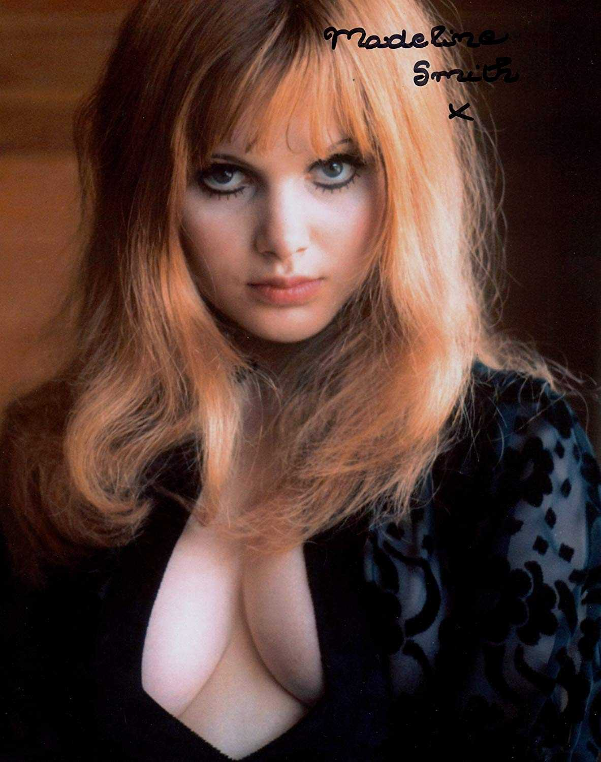 Madeline Smith hot cleavage