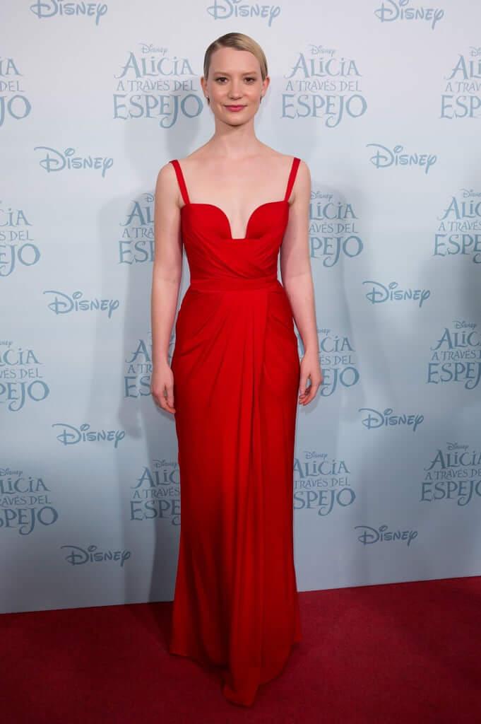 Mia-wasikowska-long-red-dress