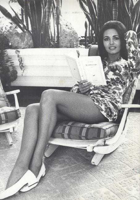 Michèle Mercier hot feet