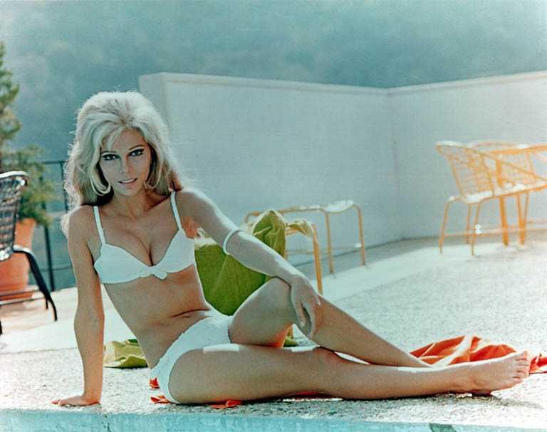 Nancy Sinatra white bikini pic
