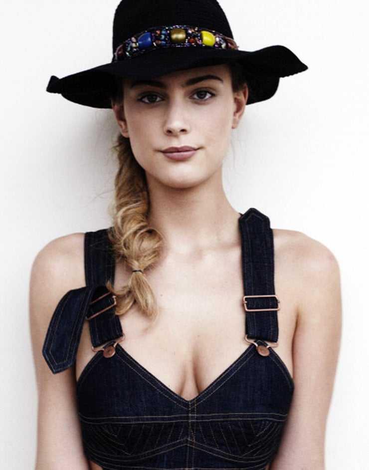Nora Arnezeder sexy cleavage