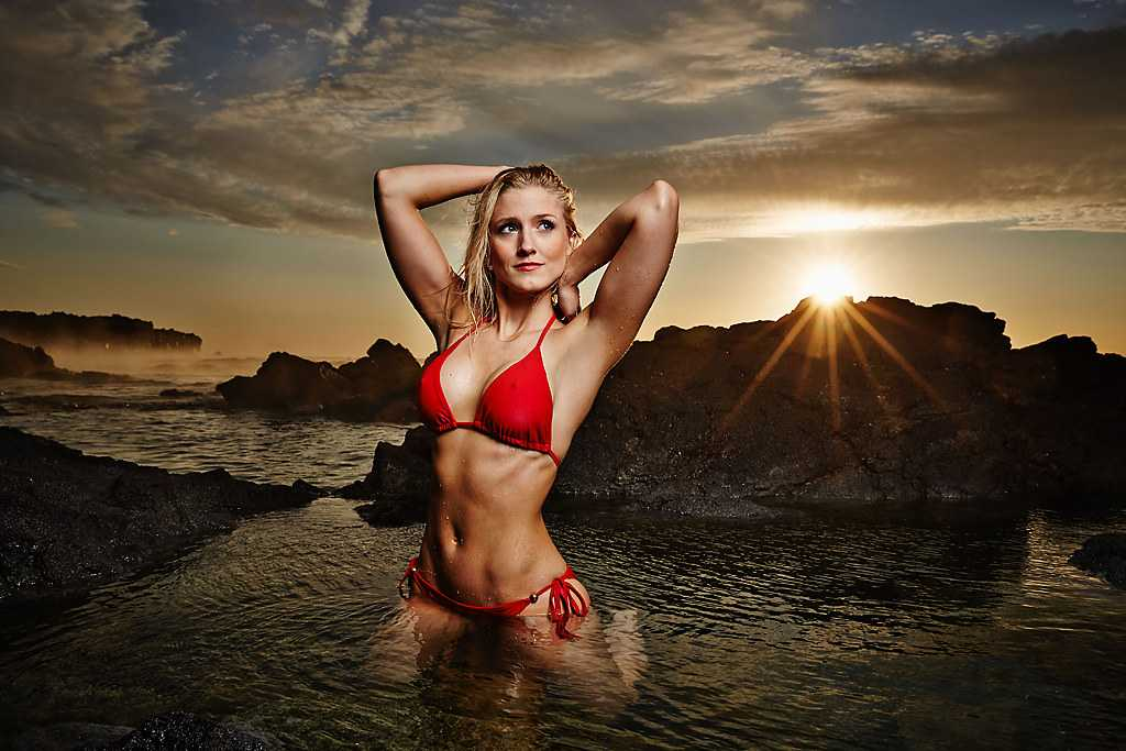 Rannveig Hildur sexy red bikini pic