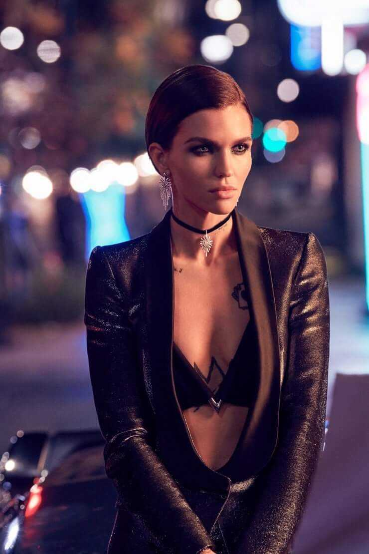 Ruby Rose sexy cleavage