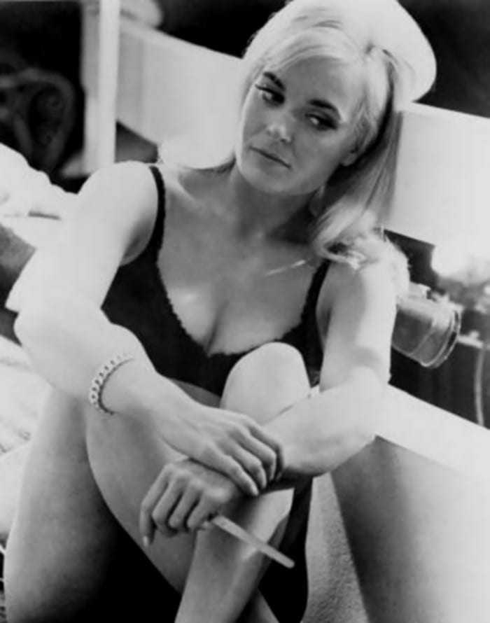Shirley Eaton sexy cleavage
