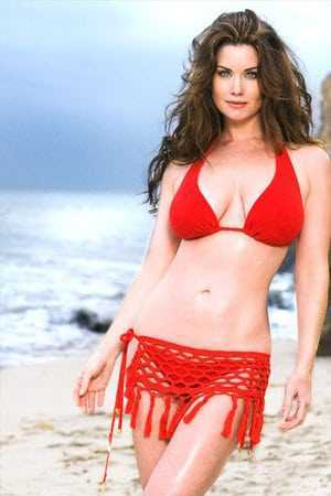Carrie Stevens sexy red bikini