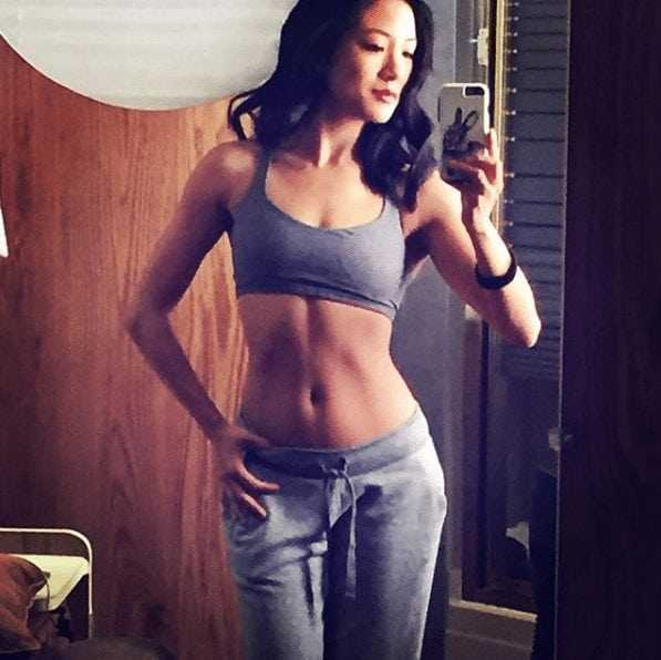Constance Wu sexy navel