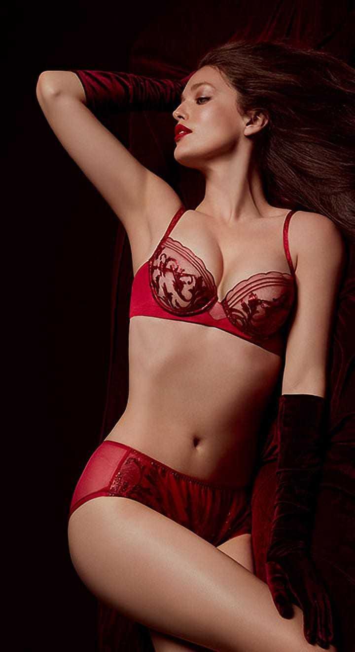 Emily DiDonato sexy red bikini pic