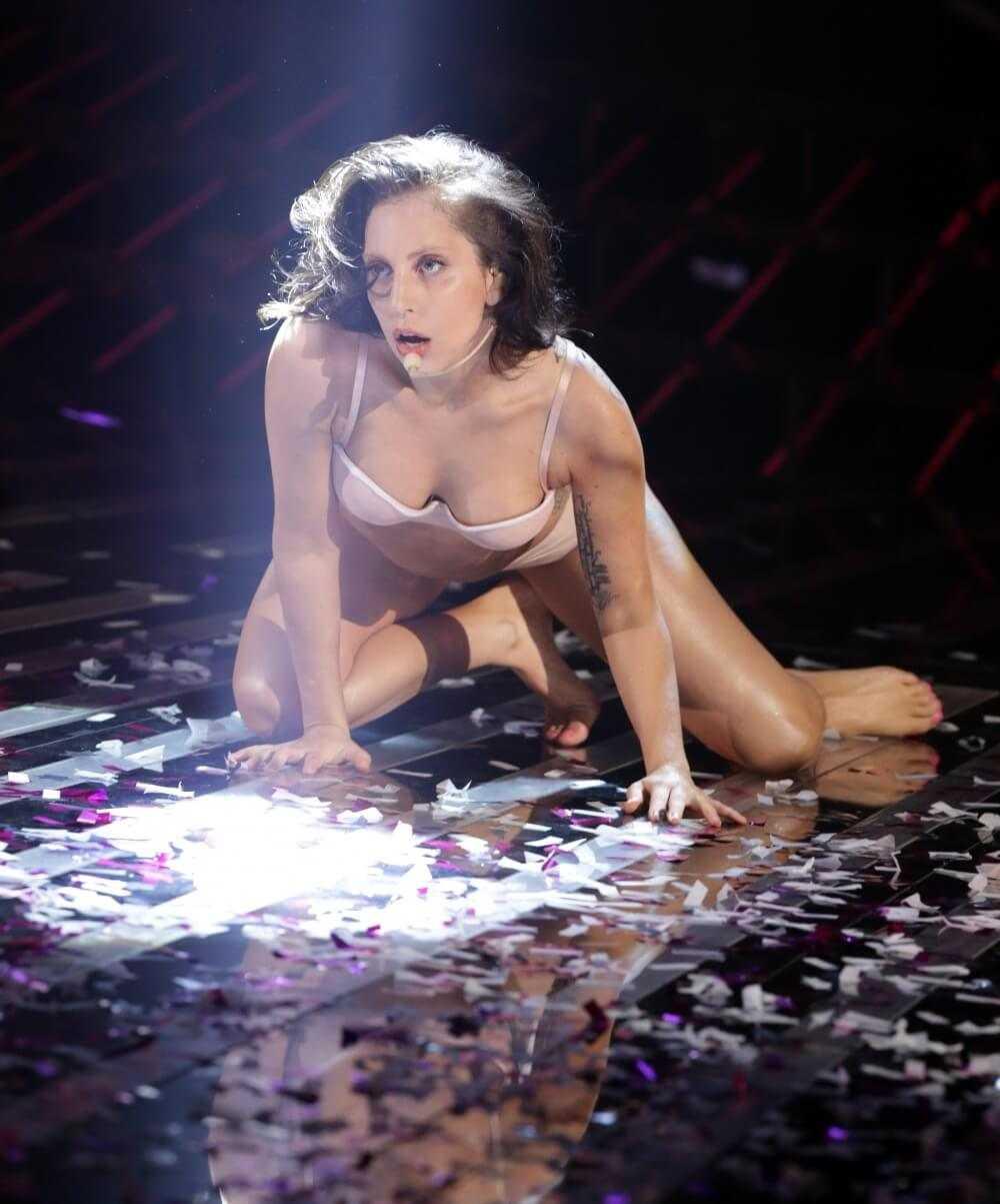 Lady Gaga busty look