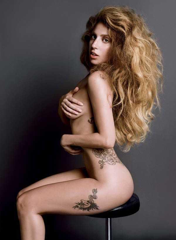 Lady Gaga topless pic