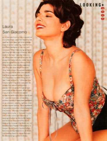 Laura San Giacomo hot cleavage pic