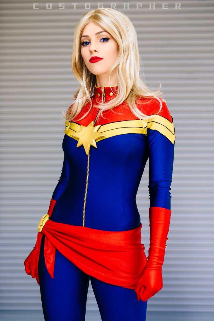 captain marvel blonde hair