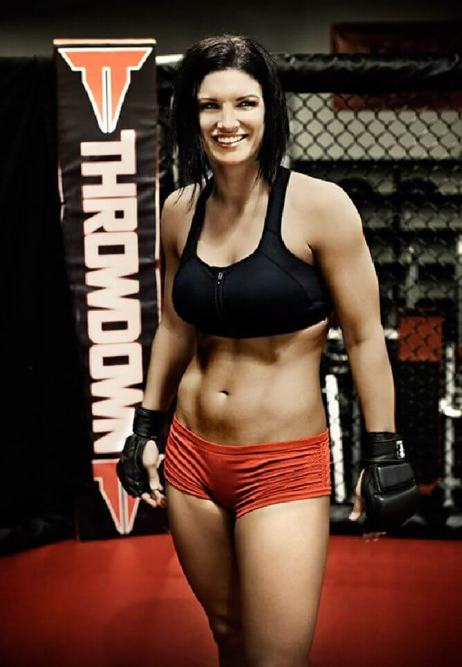 gina carano hot smile