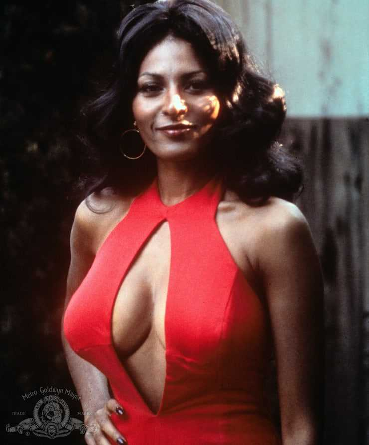 pam grier cleavage