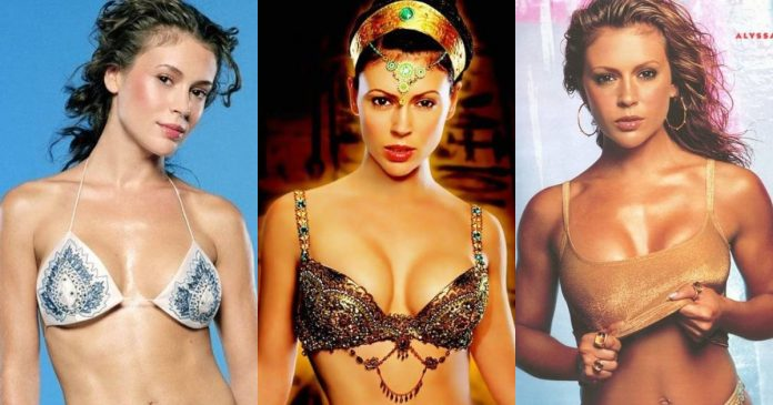 61 Hottest Alyssa Milano Boobs Pictures Expose Her Perfect Cleavage