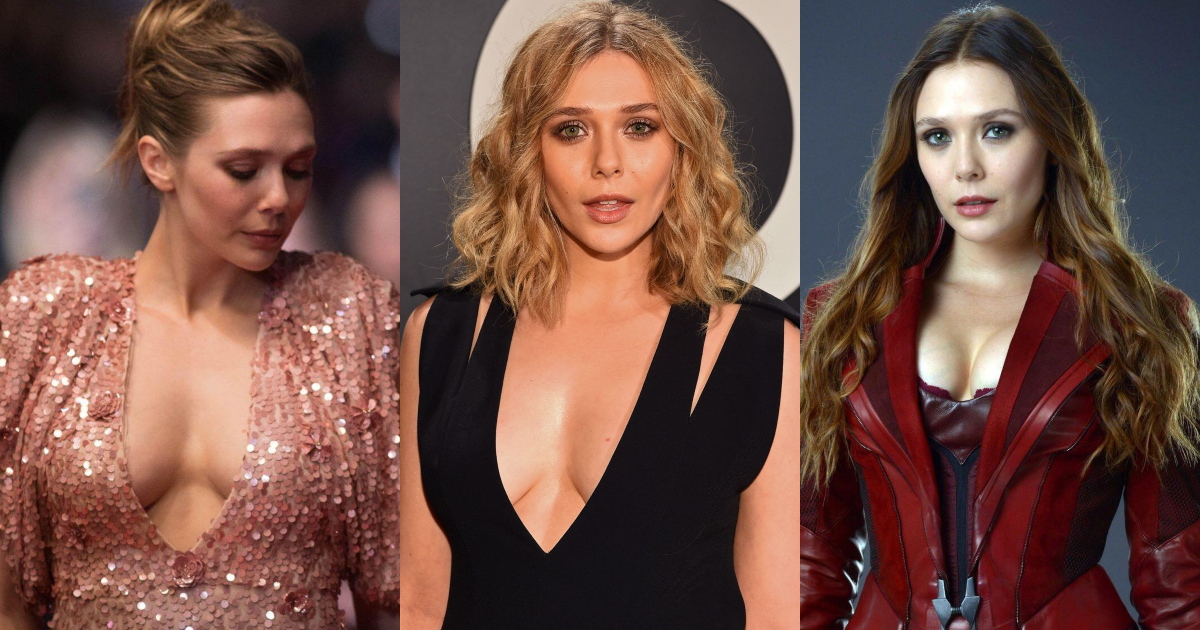 61 Hottest Elizabeth Olsen Boobs Pictures Expose Her Perfect Cleavage