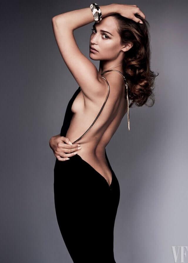 Alicia Vikander sexy butt picture