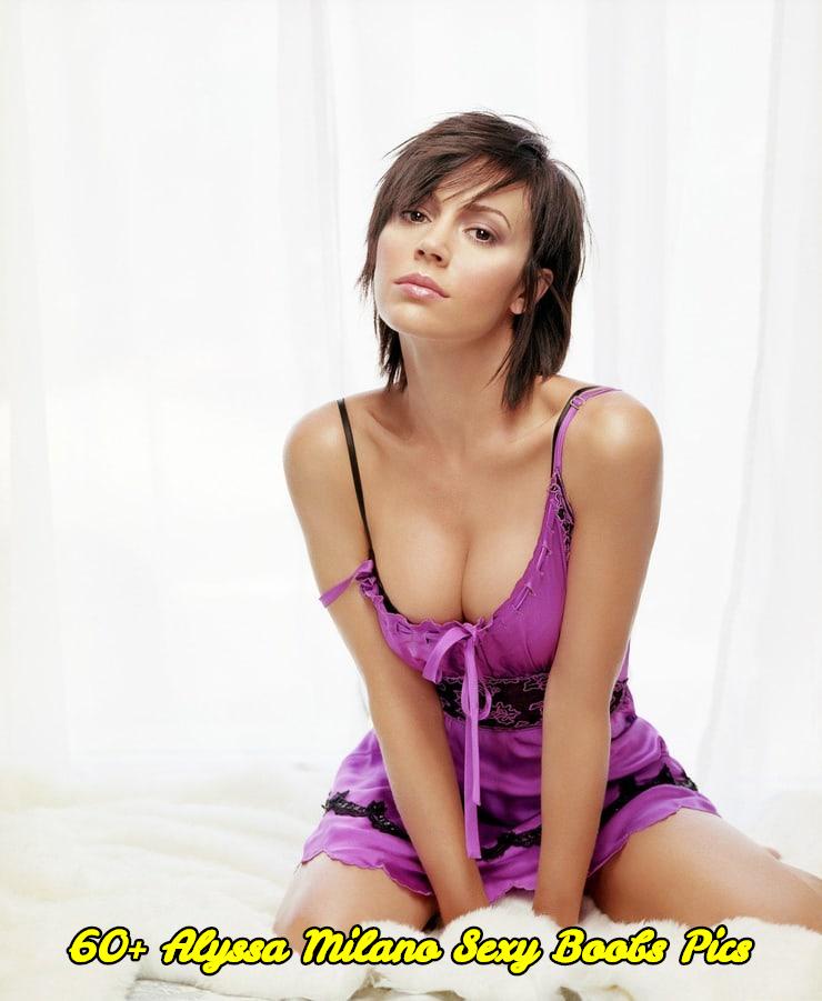 Alyssa Milano sexy boobs pics